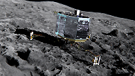 "On August 6, the big day came: After a journey of more than ten years, the Rosetta space probe reached the comet 67P/Churyumov-Gerasimenko, known as ""Chury"" for short"